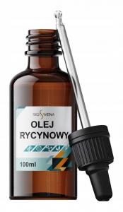Olej rycynowy 100ml rafinowany z pipetą